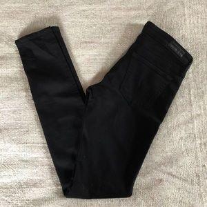 AG The Legging Super Skinny Black Jeans Size 26R